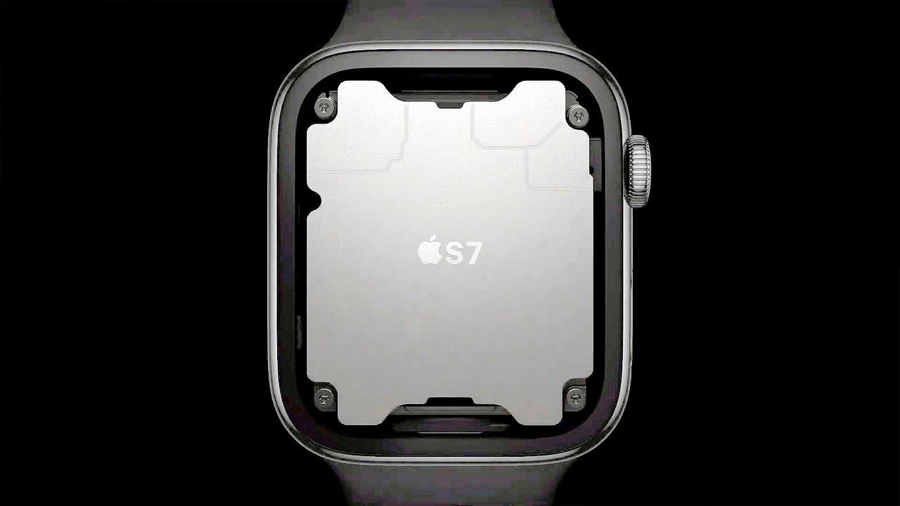 Exemplificação do possível novo processador no interior do Apple Watch 7